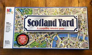 Vintage SCOTLAND YARD Board Game Milton Bradley 1985 Complete Detective 10-Adult
