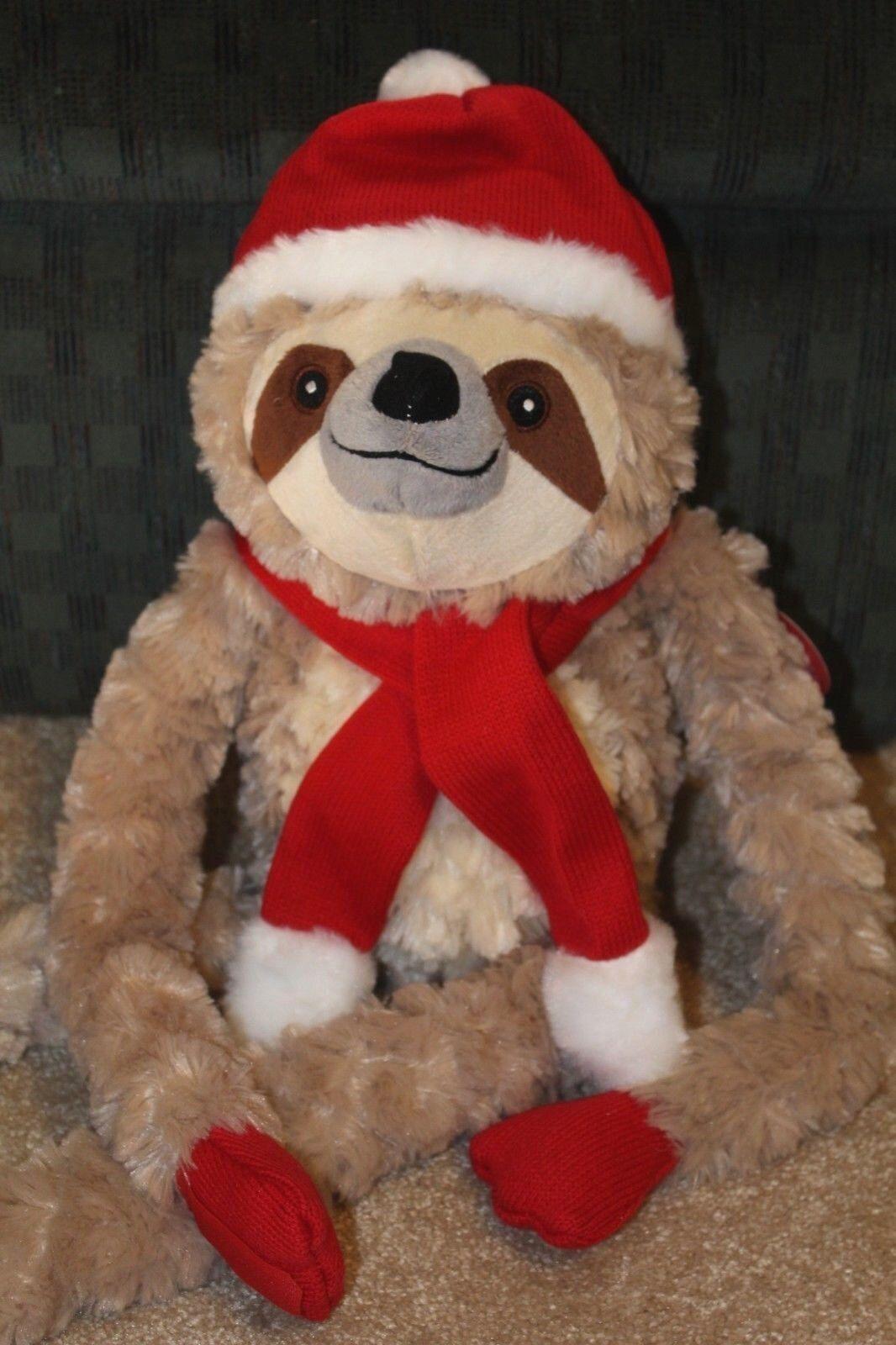 Scully, die weihnachten faultier plsch stofftier von pier 1 weihnachtsmann - mtze kumpel geschenk