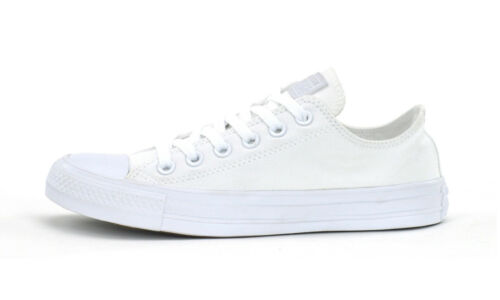 1U647 CONVERSE CT ALL STAR OX NEW UNISEX ADULTS SNEAKERS WHITE MONOCHROME