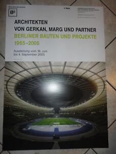 Ausstellungsplakat-Berliner-Bauten-amp-Projekte-1965-2005-Architekten-Gerkan-u-a