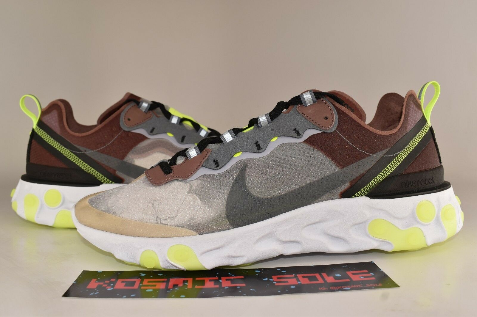 Nike React Element 87 Desert Sand Style AQ1090-002 Size 6.5