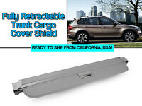 07-13 Bmw E70 X5 Fully Retractable Grey Trunk Cargo Cover Shield Luggage Cover