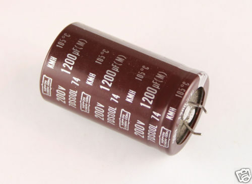 8x 820uF 200V Snap In Mount Electrolytic Capacitor 820mfd 200VDC 200 Volts 85C