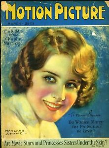 MOTION PICTURE magazine •  Mar. 1927 • NORMA SHEARER cover by MARLAND STONE
