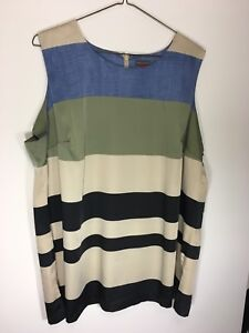 f6545f847c8475 New Vince Camuto Multi Striped Blouse Shirt 3X Plus Size Orig ...