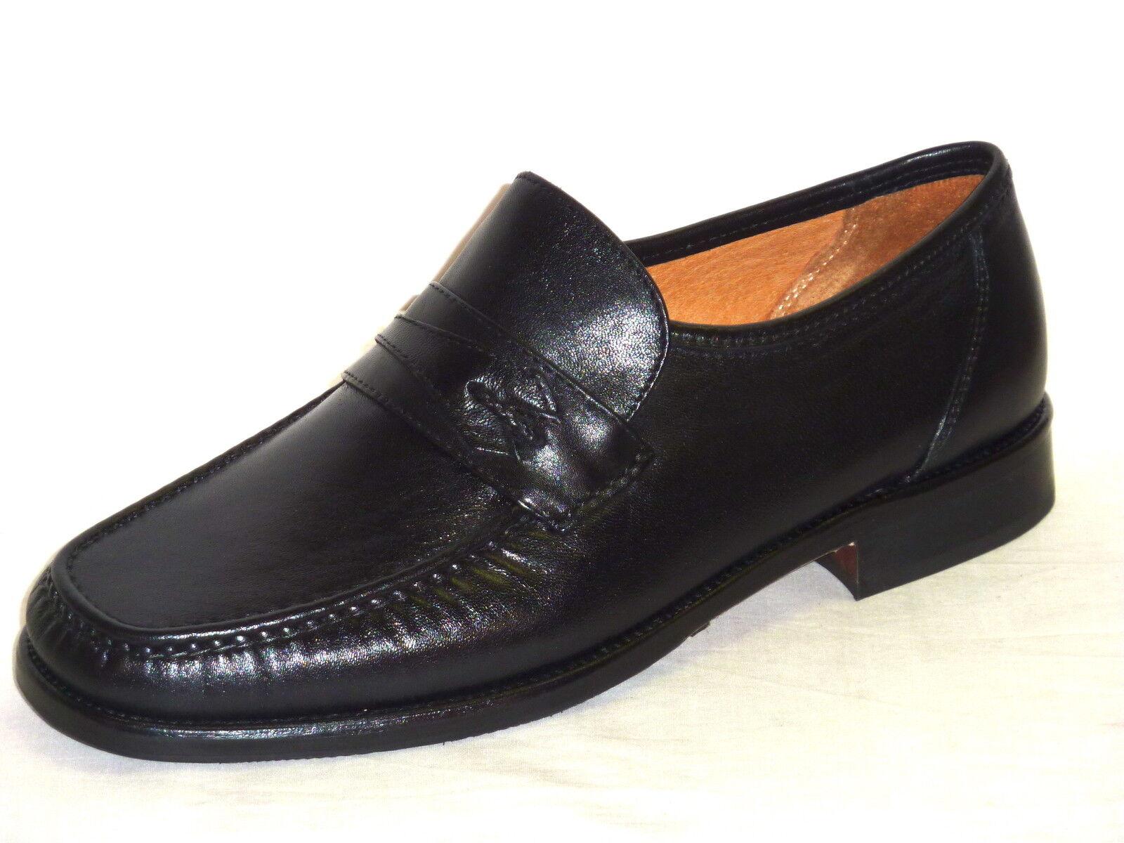 U4291H MELLUSO Herrenschuhe Mokassins schwarzes Leder mode komfortabel n. 42