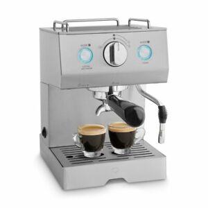 Espressomaschine Edelstahl Kaffeemaschine Siebträgermaschine Milchaufschäumer