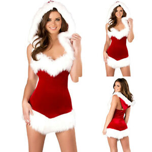 e4ced85903a New Ladies Mrs Santa Claus Outfit Xmas Sexy Costume Adults Christmas ...