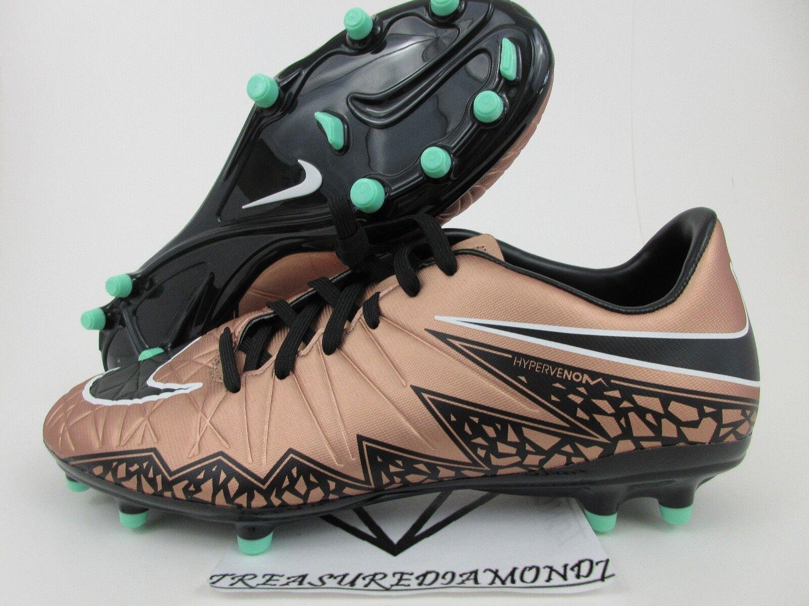 Nike Hypervenom Phelon II FG 2 Men Soccer Cleats SZ 9 Football Bronze 749896-903