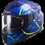 LS2-FF320-STREAM-EVO-DUAL-VISOR-FULL-FACE-MOTORCYCLE-HELMET-TACHO-BLUE miniature 2