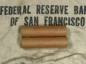 ONE-FRB-SF-Salt-Lake-Branch-Indian-Head-Penny-Roll-50-Cents-1859-1909