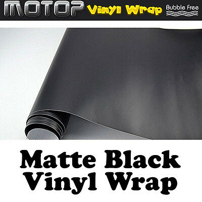 Auto Matte Black Vinyl Wrap Film Car Sticker Decal with Air Bubble Free