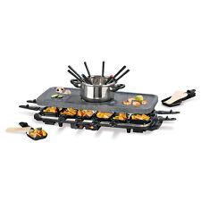 GOURMETmaxx Raclette & Fondue Set für 12 Personen 1600W Grill heißer Stein