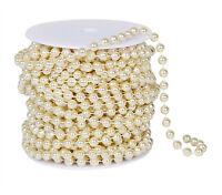 Ivory Pearl Bead Spool | Wedding Decorations Garland | 22 Yards 8 Mm