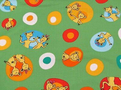 Dr Seuss Hop on Pop Green 17015 Robert Kaufman Cat In the Hat Fabric 1//2 YARD