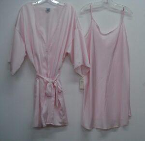d0de183d8e USA Made Nancy King Lingerie Chemise   Jacket Gown Robe Size 3X Pink ...