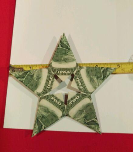 TWO DOLLARS $10 STAR BILL FOLDED RARE DOLLAR ORIGAMI GRADUATION GIFTS