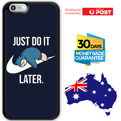 Pokemon Snorlax Nike just Dont do it iphone case