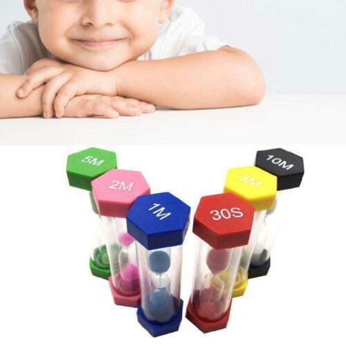 6 Colors Hourglass Timer Set 1//3//5//10//15//mins 30Seconds Sandglass Clock for Home