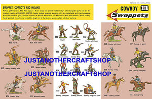 Britains-Swoppets-Cowboys-1960-039-s-A3-Poster-Advert-Shop-Display-Sign-Leaflet
