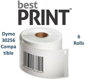 6-Rolls-of-300-Labels-2-5-16-034-x-4-034-For-DYMO-LabelWriter-30256-Compatible