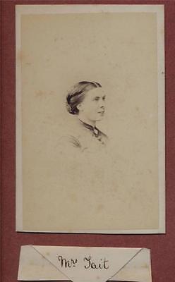 Manchester. 'Mrs Tait'. Mudd Victorian Family History   CDV photograph qe.37