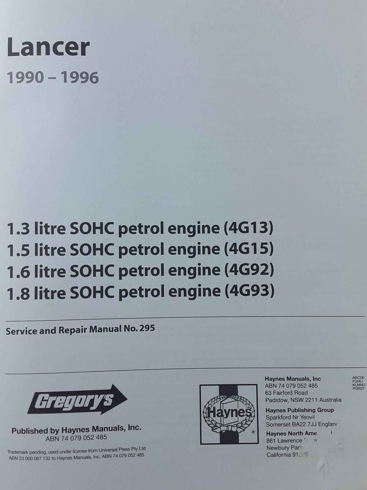 manual service 4g13