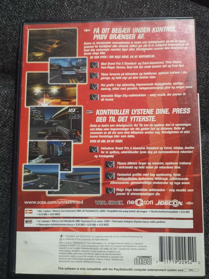 Ridge Racer V, PS2, racing