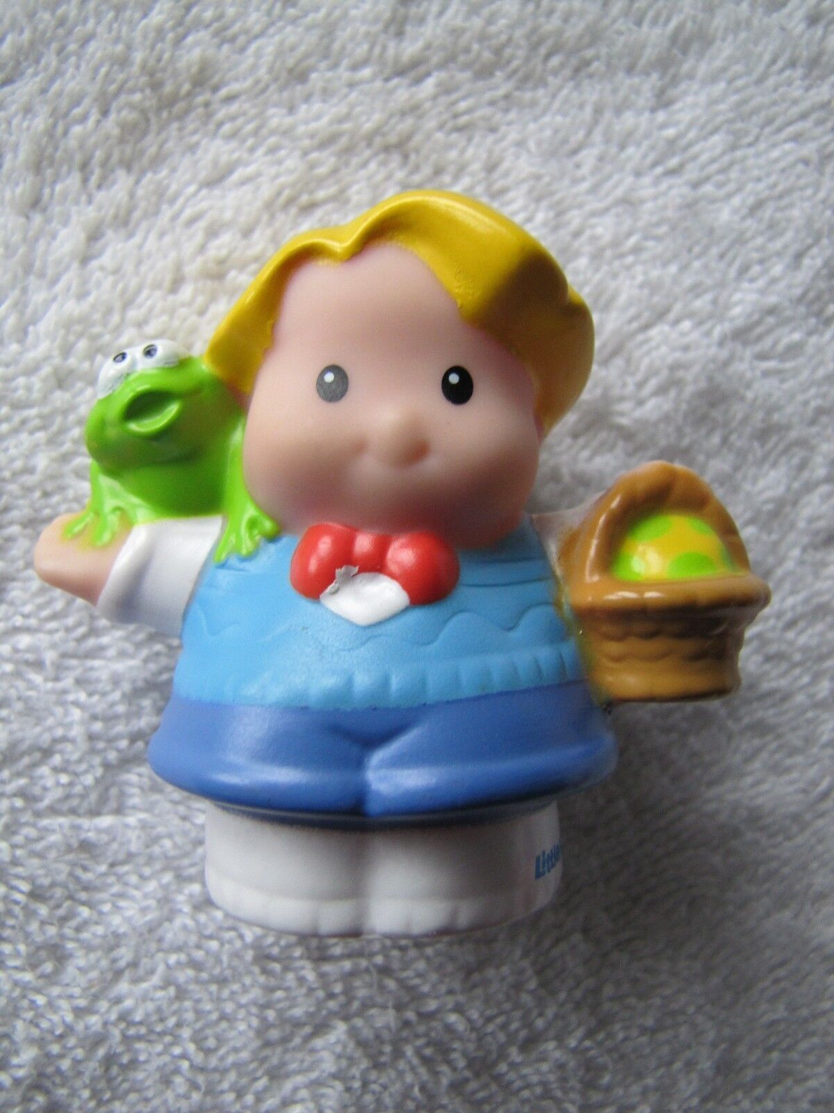 New Fisher Price Little People EDDIE w  EASTER EGG BASKET of EGGS Spring Holiday