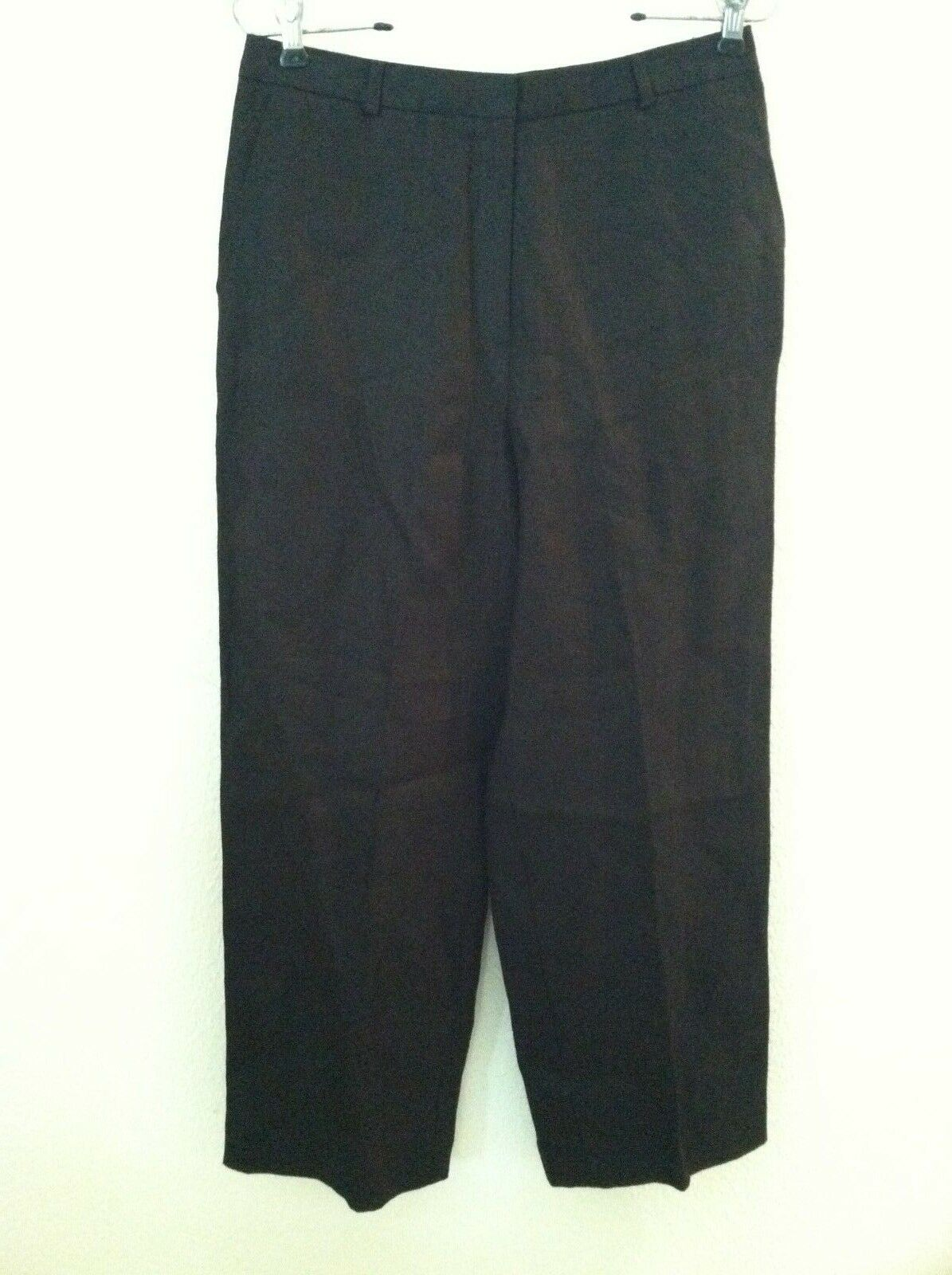 New Talbots damen pant schwarz 100 linen slack baggie Größe 8 unlined flat no pleat