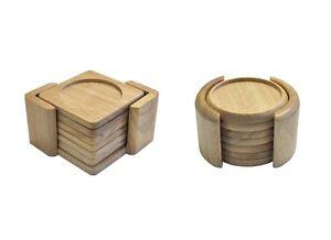 Untersetzer 7tlg Aus Bambus Holz Eckig Oder Rund Glasuntersetzer