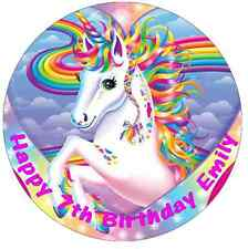 Unicorn Horse Personalised Edible Cake Topper Wafer Paper 7.5""