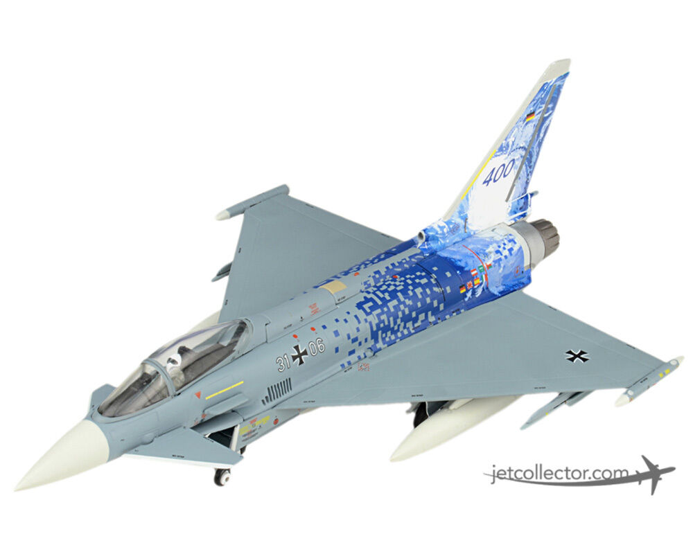 EF-2000 tifón S Diecast Modelo Luftwaffe taktlwg 31 31+06 escala 1 72