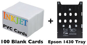 Details about Inkjet PVC ID Card Kit - Epson Artisan 1430, Stylus Photo  1400,1410,1430W,others