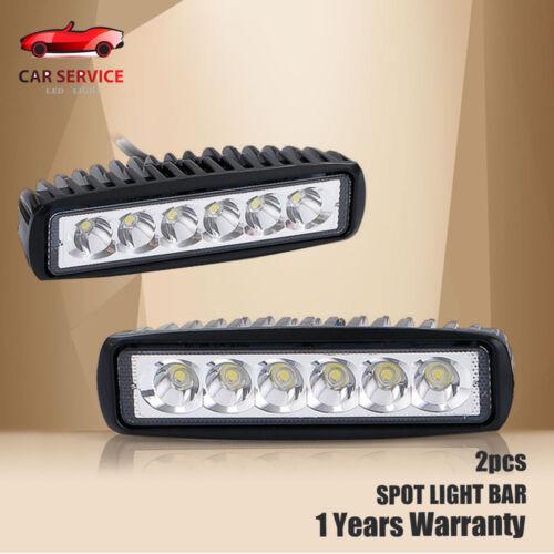 "Polaris Ranger 2x 6/"" LED Work Light Bar Spot offroad Lamp ATV RZR Sportsman"