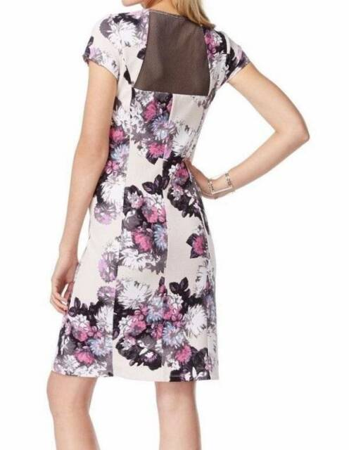NWT INC Concepts Plus Size Printed Illusion Back Flare Dress 2X