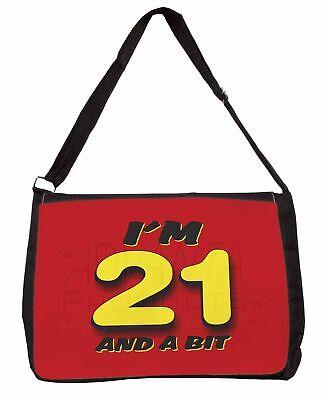 Schietto Over 21 Birthday Large Black Laptop Shoulder Bag School/college, Fun-3sb Le Materie Prime Sono Disponibili Senza Restrizioni