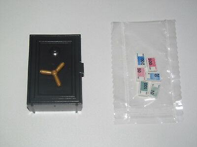 Playmobil Accessoire Décor Cowboy Coffre Fort Banque Noir Billets Argent NEW