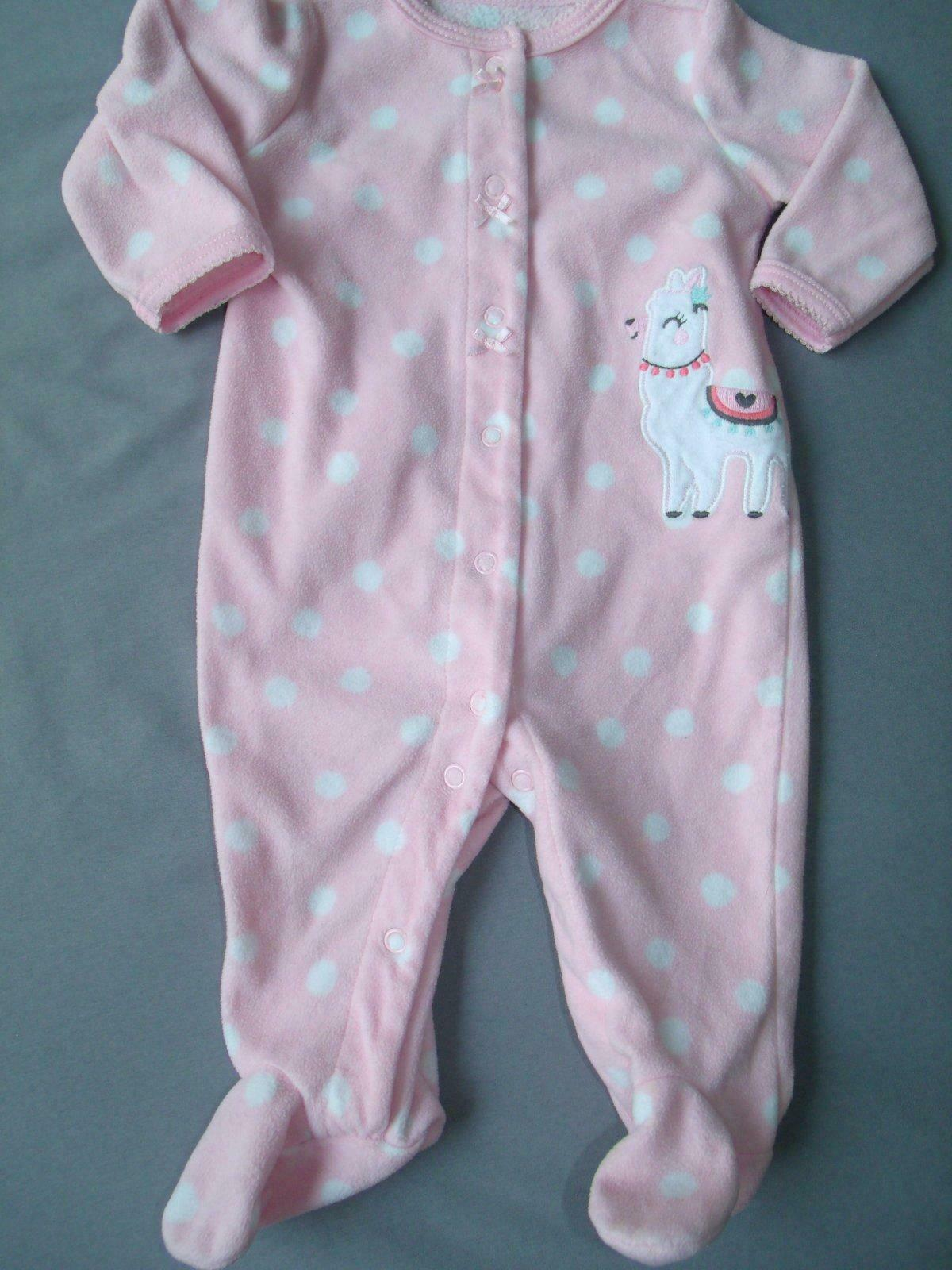 Baby Girl Clothes Nwot Carters 3 Month Pink Fleece Llama Outfit