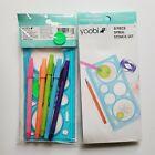 Lot Of 2 Yoobi Stencil Kit with Pens
