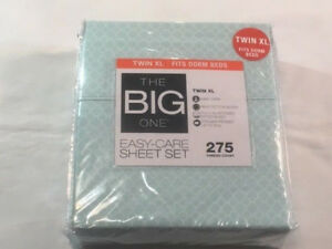 The Big One Twin XL Sheet Set   Blue Trellis 400984266339 | eBay