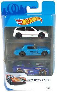 Hot-Wheels-3-2017-3-Pack-Honda-Civic-EF-Fairlady-2000-Corvette-K5904-D846
