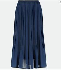 5336c3398b item 3 UNIQLO Navy High Waist Chiffon Pleated Midi Skirt in Size Medium  *BNWT* -UNIQLO Navy High Waist Chiffon Pleated Midi Skirt in Size Medium  *BNWT*