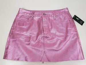 Women-039-s-Metallic-Denim-Skirt-Wild-Fable-Pink