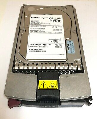 HP 72.8GB 10K ULTRA320 3.5/'/' 80PINS Hard Drive 286714-B22 289042-001 404709-001