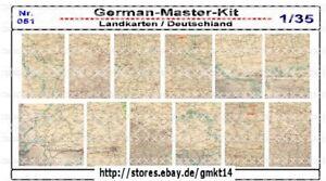 Diorama-Zubehoer-Landkarten-Karten-der-WH-1-35-Diorama-Zubehoer-GMK-World-War-II