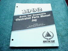 Arctic Cat 1992 Parts Manual Jag + Deluxe Snowmobile OEM #281