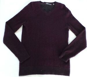 VINCE-LONG-SLEEVE-V-NECK-CASHMERE-PULL-OVER-SWEATER-IN-PLUM-SIZE-M