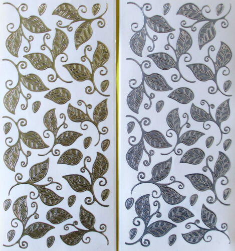 Lovely Leaves PEEL OFF STICKERS Autumn Springs Gold or Silver