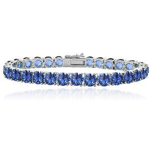 blue swarovski elements tennis bracelet 649242552306 ebay. Black Bedroom Furniture Sets. Home Design Ideas